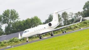 LEEUWARDEN, DIE NIEDERLANDE - 10. JUNI: Luftwaffe Gulfstream Aero Stockfotografie