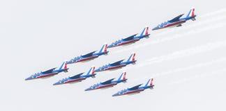LEEUWARDEN, DIE NIEDERLANDE 11. JUNI 2016: Piloten von Patrouille Stockfotografie