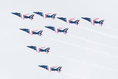 LEEUWARDEN, DIE NIEDERLANDE 11. JUNI 2016: Piloten von Patrouille Lizenzfreies Stockfoto