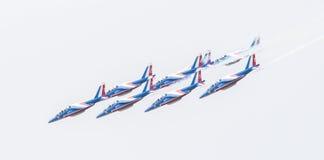 LEEUWARDEN, DIE NIEDERLANDE 11. JUNI 2016: Piloten von Patrouille Lizenzfreies Stockbild