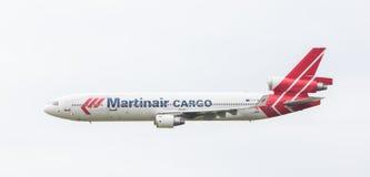 LEEUWARDEN holandie - CZERWIEC 11, 2016: PH-MCU Martinair Ho Obraz Stock