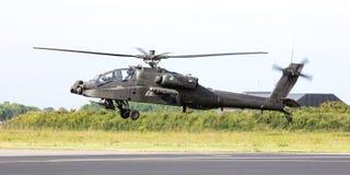 LEEUWARDEN holandie - JUN 11, 2016: Boeing AH-64 Apache Fotografia Stock