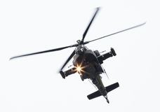 LEEUWARDEN holandie - JUN 11, 2016: Boeing AH-64 Apache Zdjęcie Stock