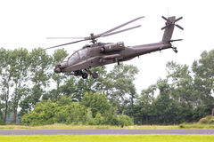 LEEUWARDEN holandie - JUN 11, 2016: Boeing AH-64 Apache Zdjęcia Royalty Free