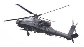 LEEUWARDEN holandie - JUN 11, 2016: Boeing AH-64 Apache Fotografia Royalty Free