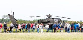 LEEUWARDEN holandie - JUN 11, 2016: Boeing AH-64 Apache Obrazy Royalty Free