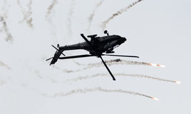 LEEUWARDEN holandie - JUN 10, 2016: Holender AH-64 Apache a Fotografia Royalty Free
