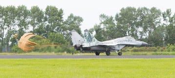 LEEUWARDEN holandie - JUN 10, 2016: Słowacka siły powietrzne MiG Zdjęcia Stock