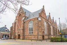 Leeuwarden Nederländerna, april 14 2018, Jacobijnenkerken a Royaltyfri Foto