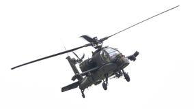 LEEUWARDEN NEDERLÄNDERNA - JUNI 11, 2016: Boeing AH-64 Apache Royaltyfri Bild