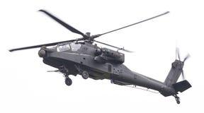 LEEUWARDEN NEDERLÄNDERNA - JUNI 11, 2016: Boeing AH-64 Apache Royaltyfri Fotografi