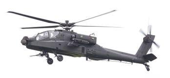 LEEUWARDEN NEDERLÄNDERNA - JUNI 11, 2016: Boeing AH-64 Apache Arkivfoton