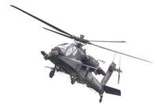 LEEUWARDEN NEDERLÄNDERNA - JUNI 11, 2016: Boeing AH-64 Apache Royaltyfria Bilder