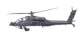 LEEUWARDEN NEDERLÄNDERNA - JUNI 11, 2016: Boeing AH-64 Apache Royaltyfri Foto
