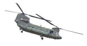 LEEUWARDEN NEDERLÄNDERNA - JUNI 11 2016: Chinook CH-47 militärH Royaltyfri Fotografi