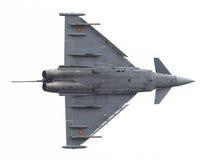 LEEUWARDEN NEDERLÄNDERNA - JUNI 11: Spanskt flygvapen Eurofig Arkivfoton