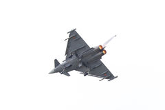 LEEUWARDEN NEDERLÄNDERNA - JUNI 11: Spanskt flygvapen Eurofig Arkivbild