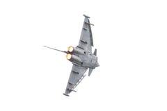 LEEUWARDEN NEDERLÄNDERNA - JUNI 11: Spanskt flygvapen Eurofig Arkivfoto