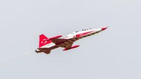 LEEUWARDEN NEDERLÄNDERNA - JUNI 10, 2016: Turkiskt flygvapen D Royaltyfri Fotografi