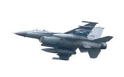 LEEUWARDEN NEDERLÄNDERNA - MAJ 26: Kämpe F-16 under en compa Arkivfoton