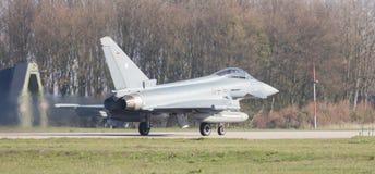 LEEUWARDEN, NEDERLAND - APRIL 11, 2016: Duitse Luchtmacht Eurof Royalty-vrije Stock Foto