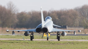 LEEUWARDEN, NEDERLAND - APRIL 11, 2016: Duitse Luchtmacht Eurof Royalty-vrije Stock Fotografie