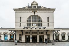 Leeuwarden, Nederland die, 14 april 2018, mens MAI ingaan stock afbeelding