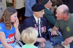 Leeuwarden, Nederland, 5 Mei 2018, Bejaarde Canadese oorlogsveteraan Royalty-vrije Stock Foto's
