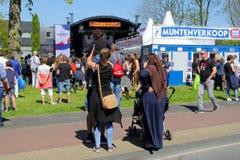 Leeuwarden, Nederland, 5 Mei 2018, de muziekoverleg van de Bevrijdingsdag Royalty-vrije Stock Fotografie