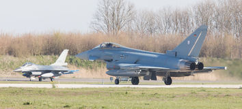 LEEUWARDEN, NETHERLANDS - APRIL 11, 2016: German Air Force Eurof Royalty Free Stock Images
