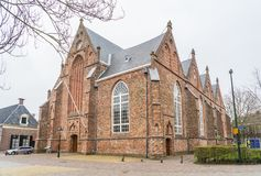 Leeuwarden, The Netherlands, april 14 2018, The Jacobijnenkerk a. Lso known as the Old church oude kerk in the ccentre of town Royalty Free Stock Photo