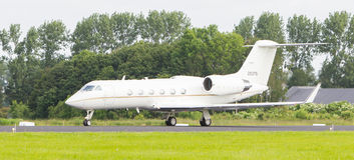 LEEUWARDEN, THE NETHERLANDS - JUNE 10: Air Force Gulfstream Aero Stock Photo
