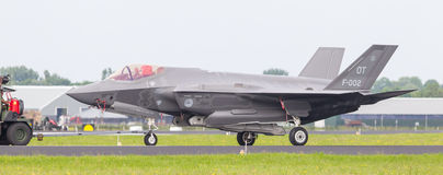 LEEUWARDEN, NETHERLANDS - JUNE 11 2016: F35 Joint Strike Fighter Royalty Free Stock Image