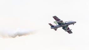 LEEUWARDEN, THE NETHERLANDS-JUNE 11, 2016: Italian aerobatic tea Royalty Free Stock Photography