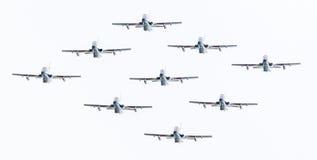 LEEUWARDEN, THE NETHERLANDS-JUNE 10, 2016: Italian aerobatic tea Royalty Free Stock Photography