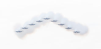 LEEUWARDEN, THE NETHERLANDS-JUNE 10, 2016: Italian aerobatic tea Stock Photography