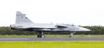LEEUWARDEN, THE NETHERLANDS-JUNE 10: Modern tactical fighter jet Stock Images
