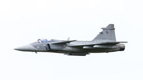 LEEUWARDEN, THE NETHERLANDS-JUNE 10: Modern tactical fighter jet Royalty Free Stock Images