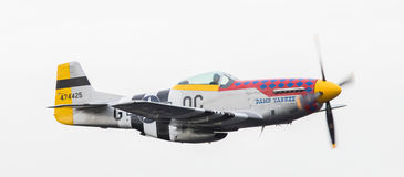 LEEUWARDEN, THE NETHERLANDS - JUNE 10: P51 Mustang displaying at Stock Images