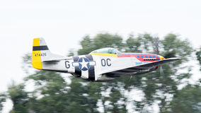 LEEUWARDEN, THE NETHERLANDS - JUNE 10: P51 Mustang displaying at Royalty Free Stock Images