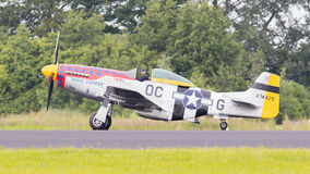 LEEUWARDEN, THE NETHERLANDS - JUNE 10: P51 Mustang displaying at Royalty Free Stock Photos