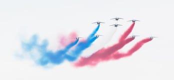 LEEUWARDEN, THE NETHERLANDS-JUNE 11, 2016: Pilots of Patrouille Stock Photo