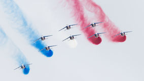 LEEUWARDEN, THE NETHERLANDS-JUNE 11, 2016: Pilots of Patrouille Royalty Free Stock Photography