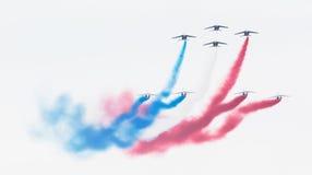LEEUWARDEN, THE NETHERLANDS-JUNE 11, 2016: Pilots of Patrouille Royalty Free Stock Photo