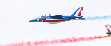 LEEUWARDEN, THE NETHERLANDS-JUNE 11, 2016: Pilots of Patrouille Royalty Free Stock Photos