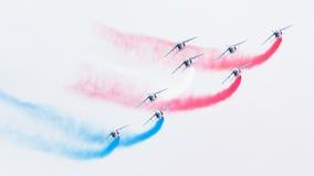 LEEUWARDEN, THE NETHERLANDS-JUNE 11, 2016: Pilots of Patrouille Stock Photography