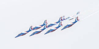 LEEUWARDEN, THE NETHERLANDS-JUNE 11, 2016: Pilots of Patrouille Royalty Free Stock Image