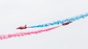LEEUWARDEN, THE NETHERLANDS - JUNE 10, 2016: RAF Red Arrows perf Stock Image