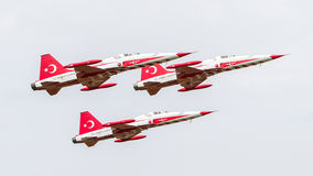 LEEUWARDEN, THE NETHERLANDS - JUNE 10, 2016: Turkish Air Force D Stock Images