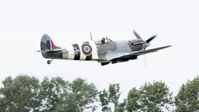 LEEUWARDEN, THE NETHERLANDS - JUNE 10, 2016: A vintage Spitfire Royalty Free Stock Photography